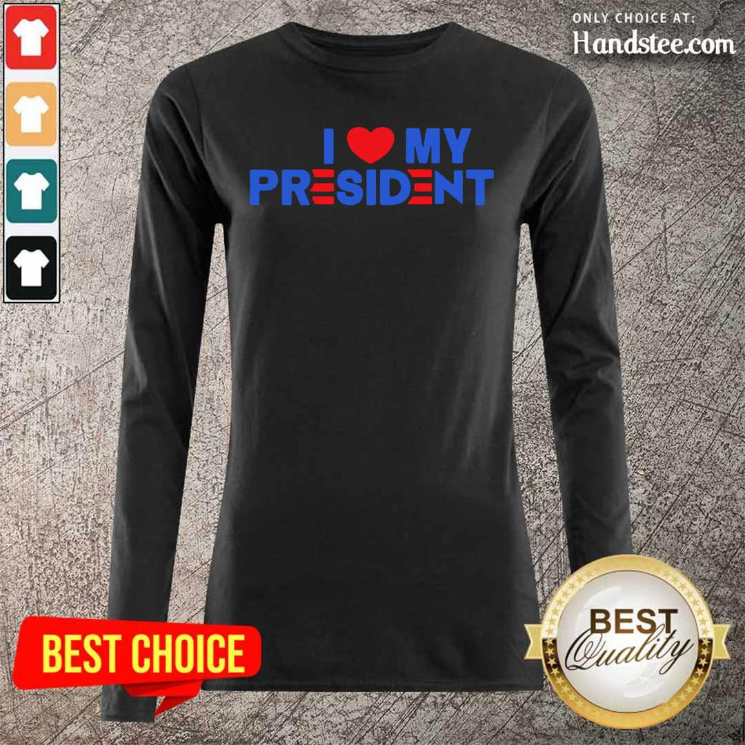 Bewildered 5 I Love My President 2021 Long-Sleeved - Design by Handstee.com