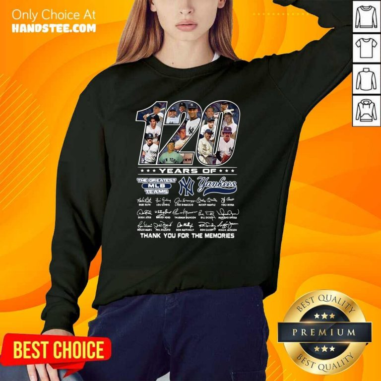 Bored 120 Years Of The Greatest 6 MLB Teams New York Yankees Sweater - Design by Handstee.com
