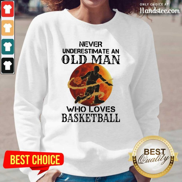 Confident An Old Man Who Loves Basketball 5 Long-Sleeved