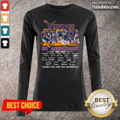 Confused The Vikings 60th Anniversary 1961 2021 Long-Sleeved