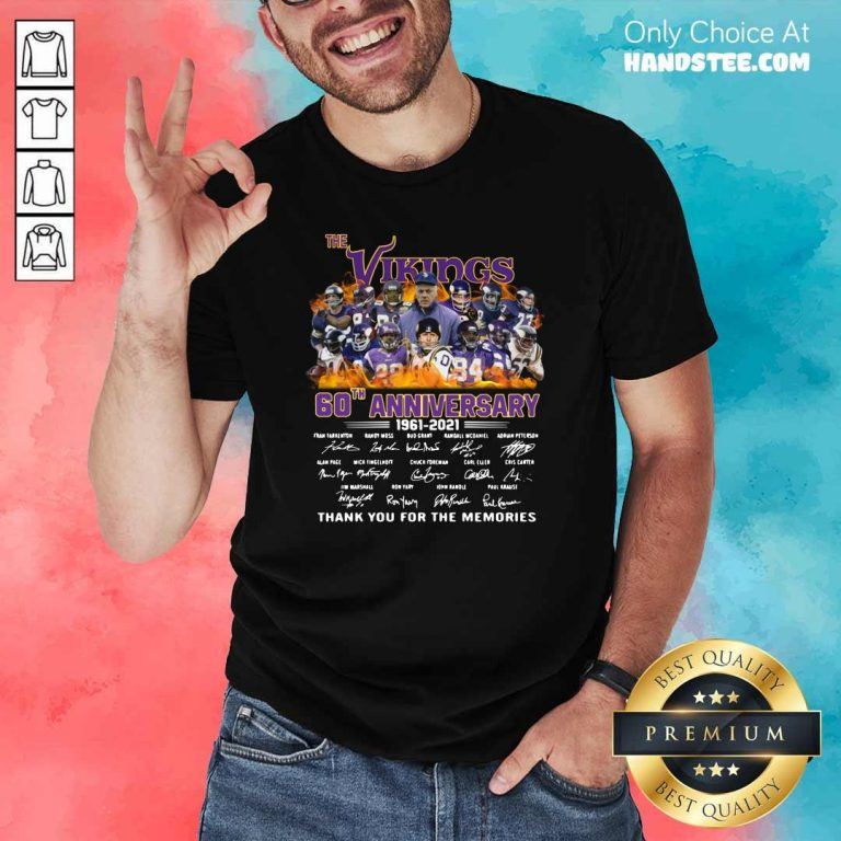 Confused The Vikings 60th Anniversary 1961 2021 Shirt