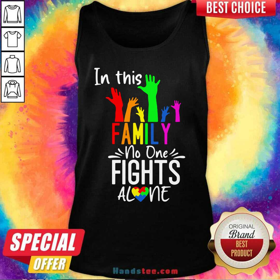 Cool No One Fights Alone LGBT 22 Tank Top - Design by Handstee.com