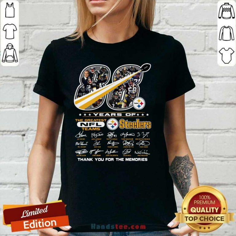 Cute 88 Years NFL Pittsburgh Steelers 12 V-neck - Design by Handstee.com