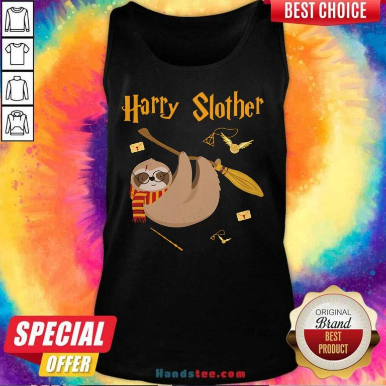 Cute Harry Potter Sloth Slother 65 Tank Top - Design by Handstee.com