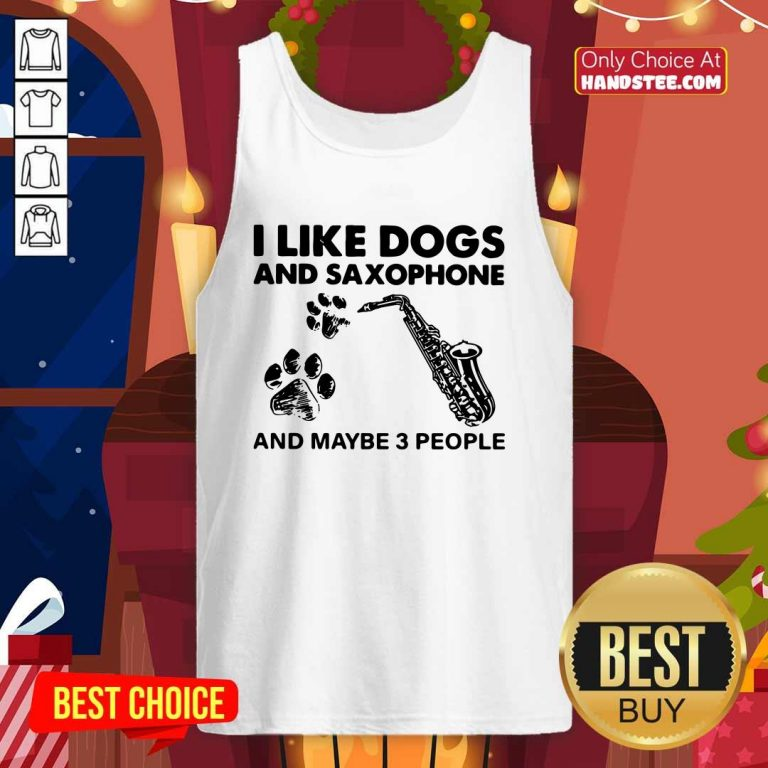 Cute I Like 4 Dogs Saxophone Tank Top - Design by Handstee.com