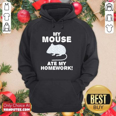 Cute My Mouse Ate My Homework Rodent 2 Hoodie - Design by Handstee.com
