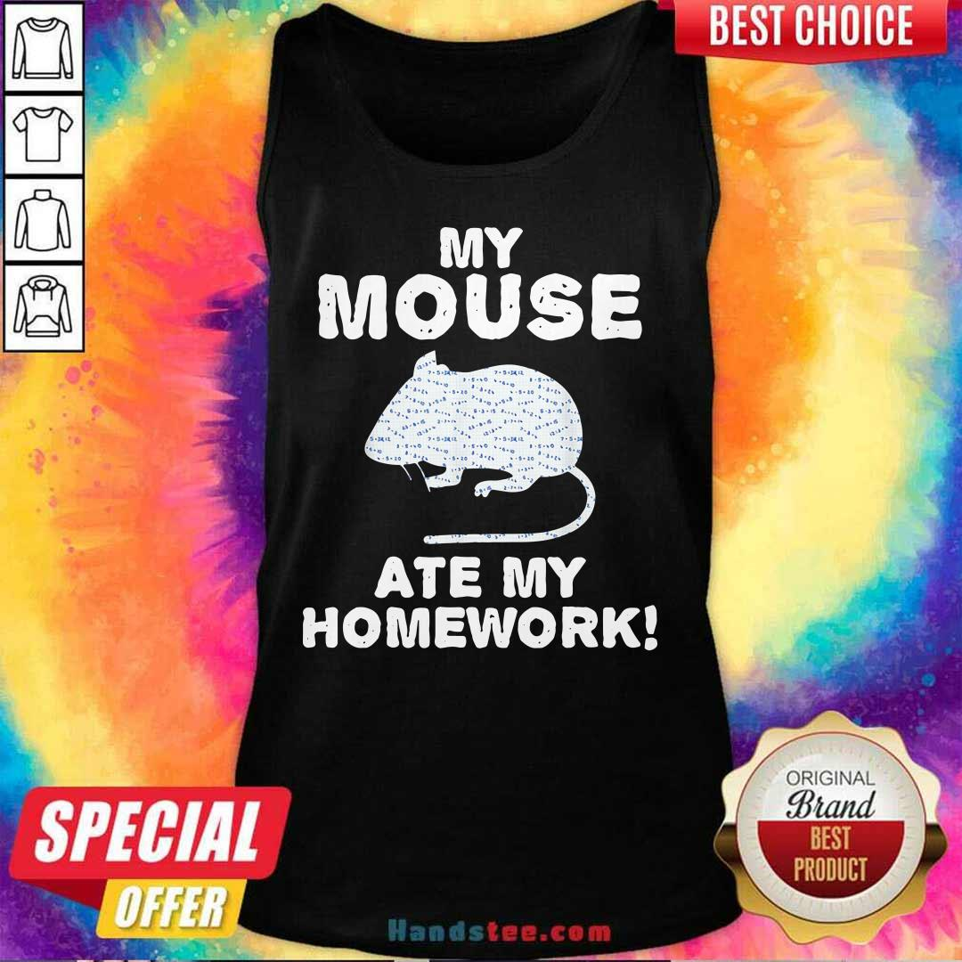 Cute My Mouse Ate My Homework Rodent 2 Tank Top - Design by Handstee.com