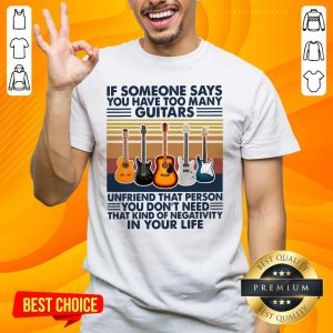 Cute You Have 5 Many Guitars Shirt - Design by Handstee.com
