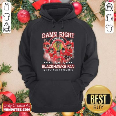 Damn Right Chicago Im A Blackhawks Fan Now And Forever Hoodie - Design by handstee.com