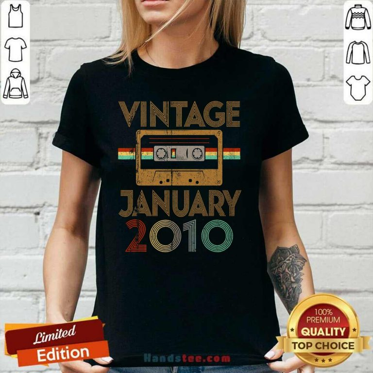 Delighted Born January 11th Birthday Ladies Tee - Design By Handstee.com