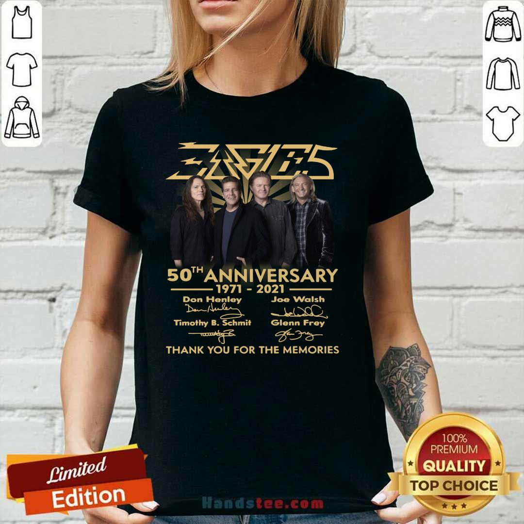 Ecstatic Eagles 50th Ann iversary Highly Ladies Tee - Design By Handstee.com