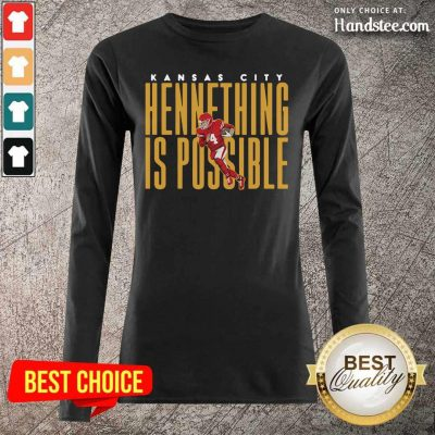 Ecstatic Kansas City Chiefs Chad Henne Hennething 2 Long-Sleeved