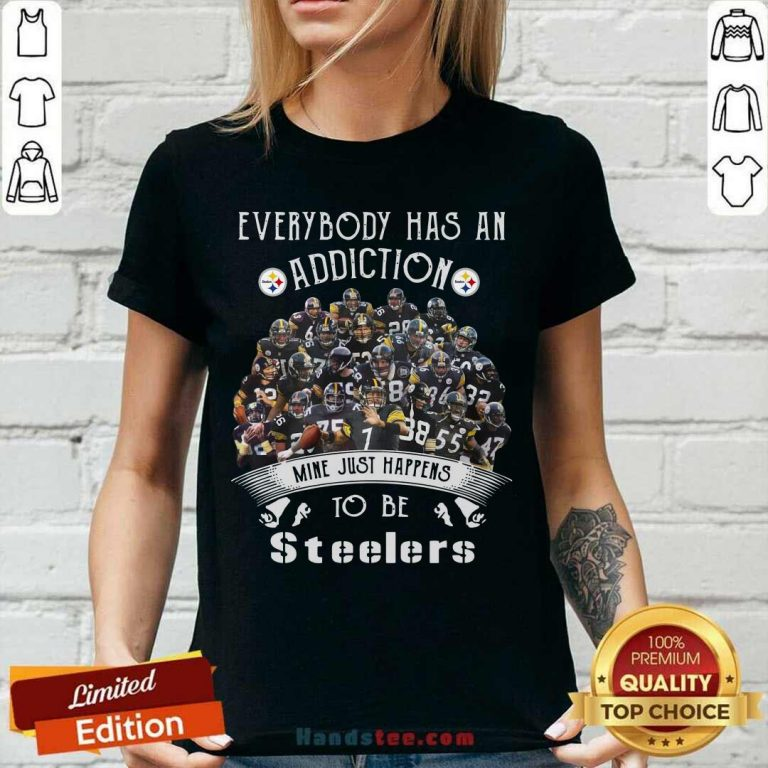 Everybody Has An Addiction Mine Just Happens To Be Pittsburgh Steelers V-neck - Design by handstee.com