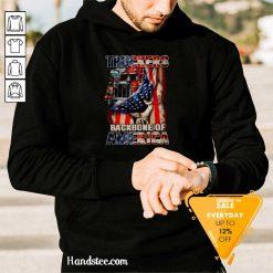 Excited Truckers 3 Backbone Of America Hoodie - Design by Handstee.com