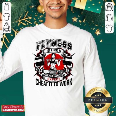Fitness Is Like A Relationship You Cant Cheat And Expect Cheat It To Work Weight Light Moon Blood Sweatshirt - Design by handstee.com