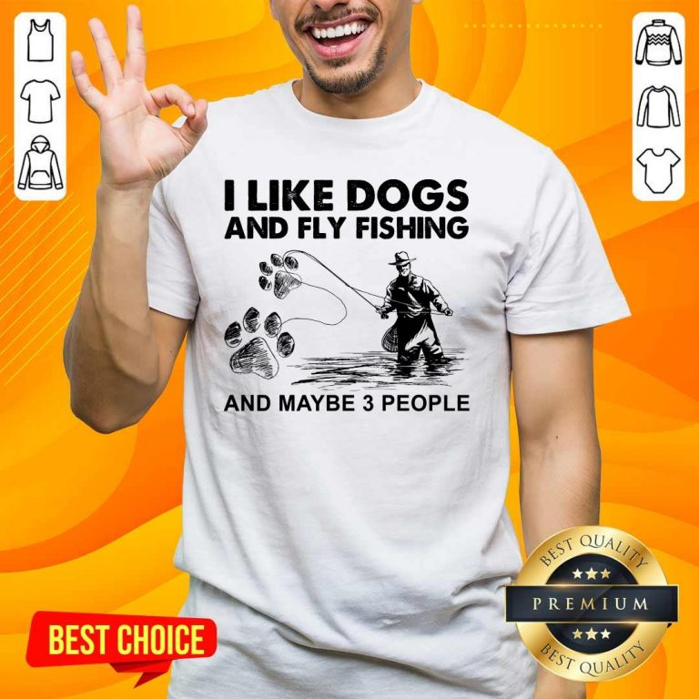 Funny 6 I Like Dogs And Fishing Shirt - Design by Handstee.com