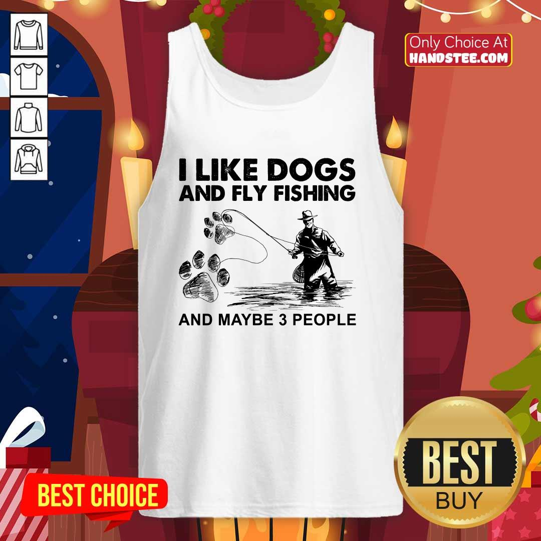 Funny 6 I Like Dogs And Fishing Tank Top - Design by Handstee.com
