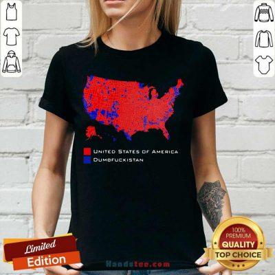Funny Republican Version United States America Vs. Dumbfuckistan V-neck