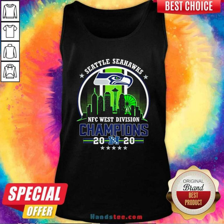 Funny Seattle Seahawks Nfc West Division Champions 2020 Tank Top