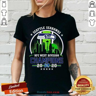 Funny Seattle Seahawks Nfc West Division Champions 2020 V-neck - Design by handstee.com