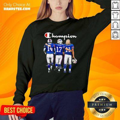 Good Buffalo Bills Diggs Allen And Beasley Champion Signatures Sweatshirt - Design by handstee.com