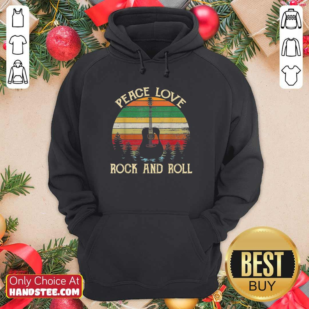 Good Peace Love Rock And Roll 3 Hoodie - Design by Handstee.com