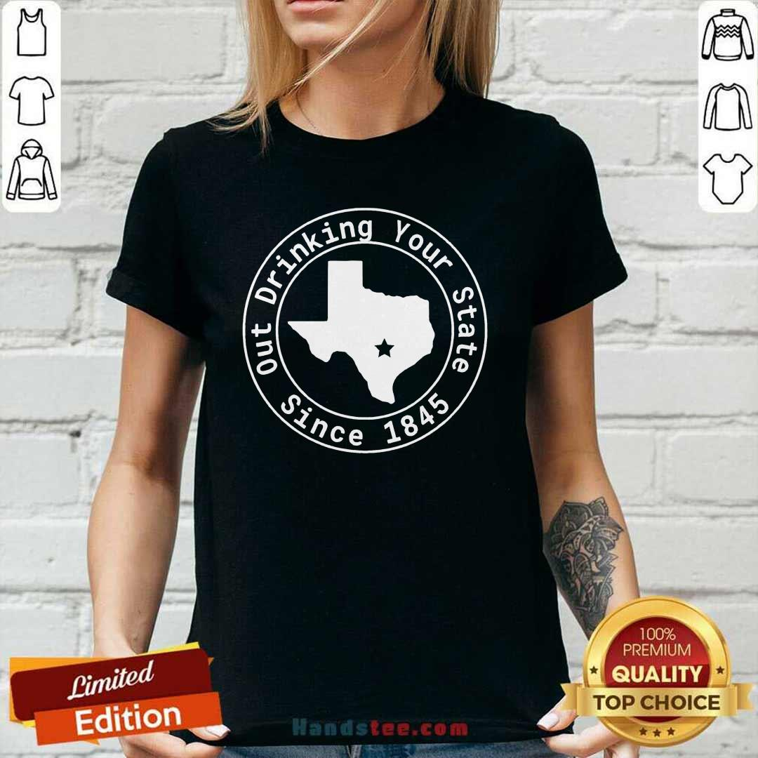 Great Drinking Your State Since 1845 Ladies Tee - Design By Handstee.com
