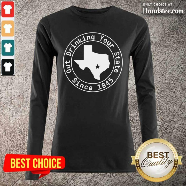Great Drinking Your State Since 1845 Long-Sleeved - Design By Handstee.com