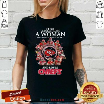 Great Football And Loves Chiefs 2 Ladies Tee - Design By Handstee.com