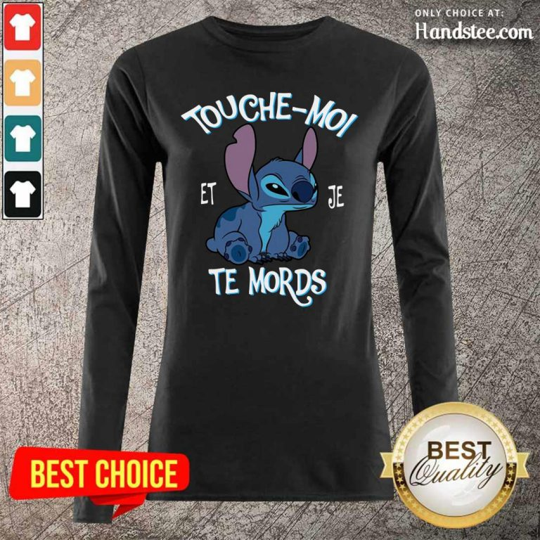 Great Stitch Touche Moi Et Je Te Mords 5 Long-Sleeved