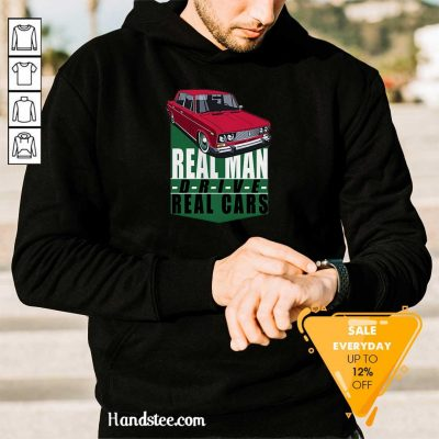 Happy 2 Real Man Drive Real Cars Red Hoodie