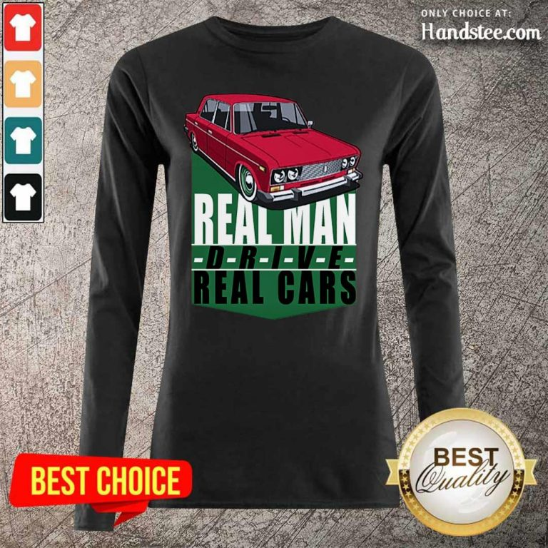 Happy 2 Real Man Drive Real Cars Red Long-Sleeved
