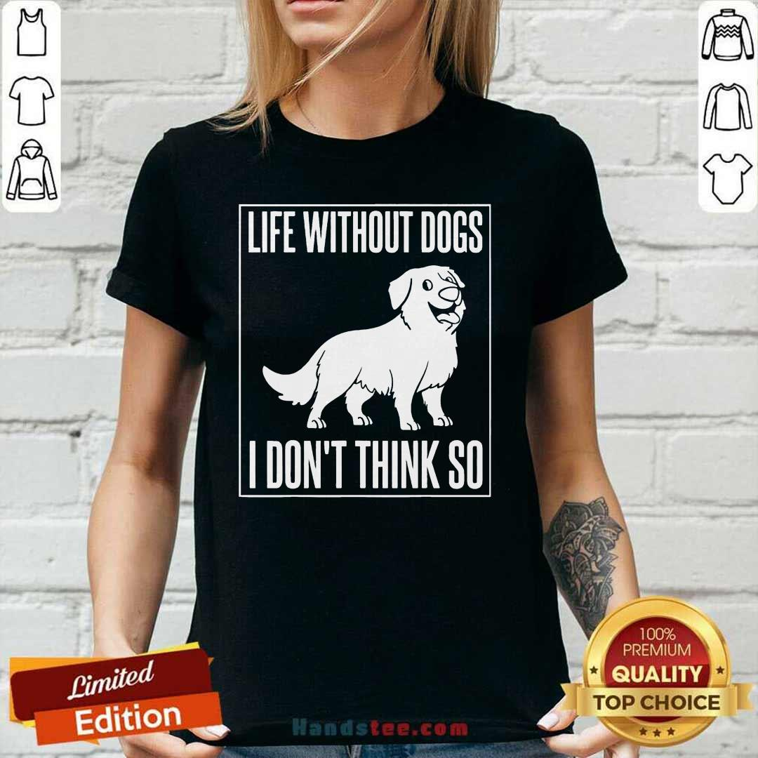 Happy Dogs I Dont Think So 1 Ladies Tee - Design By Handstee.com