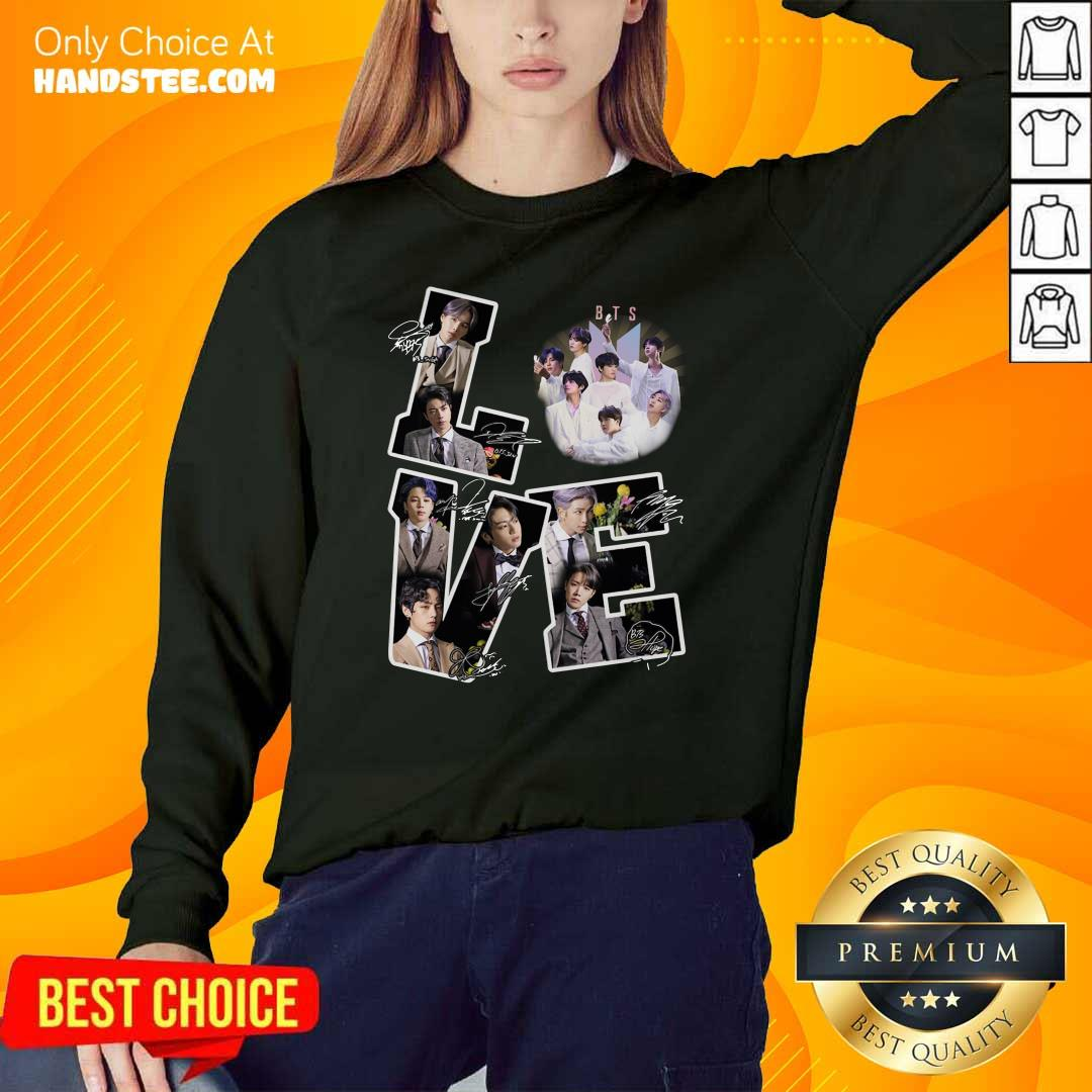 Happy Love BTS Army 2021 Character Sweater