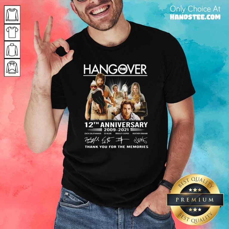 Happy The Hangover 12th Anniversary Shirt - Design by Handstee.com