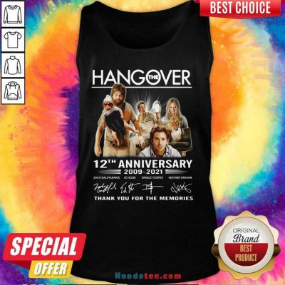 Happy The Hangover 12th Anniversary Tank Top - Design by Handstee.com