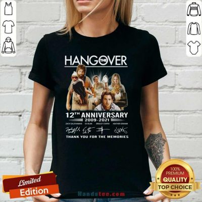 Happy The Hangover 12th Anniversary V-neck - Design by Handstee.com