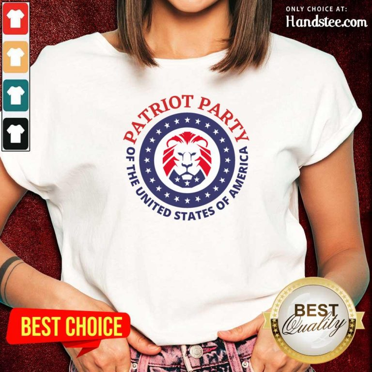 Horrified Party Of The United States Of America 5 Ladies Tee