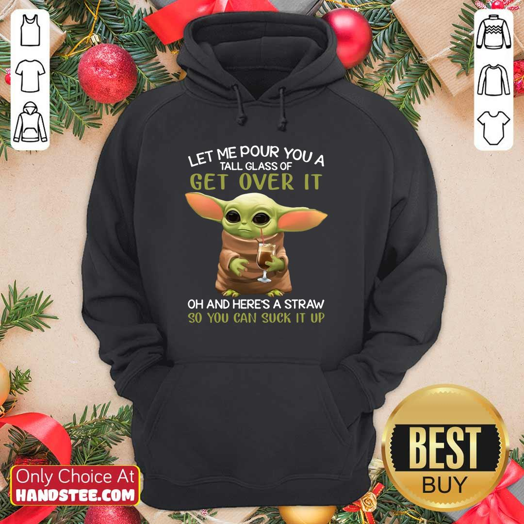 Hot Baby Yoda Pour A Tall Glass 65 Hoodie - Design by Handstee.com