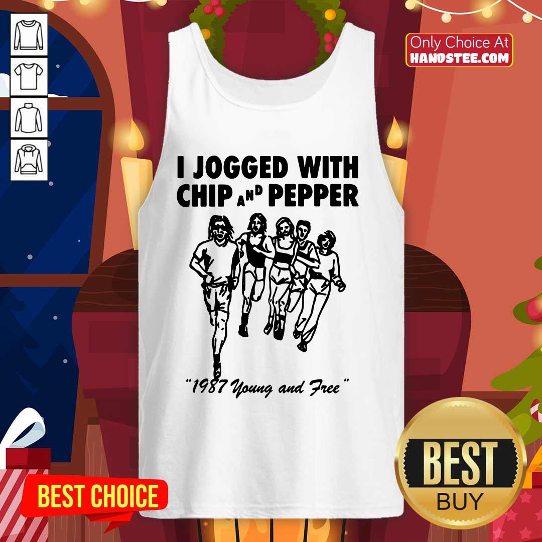 Hot I Jogged With Chip Pepper 1987 Tank Top - Design by Handstee.com
