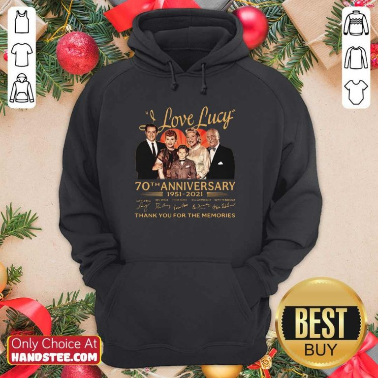 Hot I Love Lucky 70th Anniversary Hoodie - Design by Handstee.com