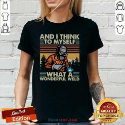 Hot Myself 21 A Wonderful Welder V-neck - Design by Handstee.com