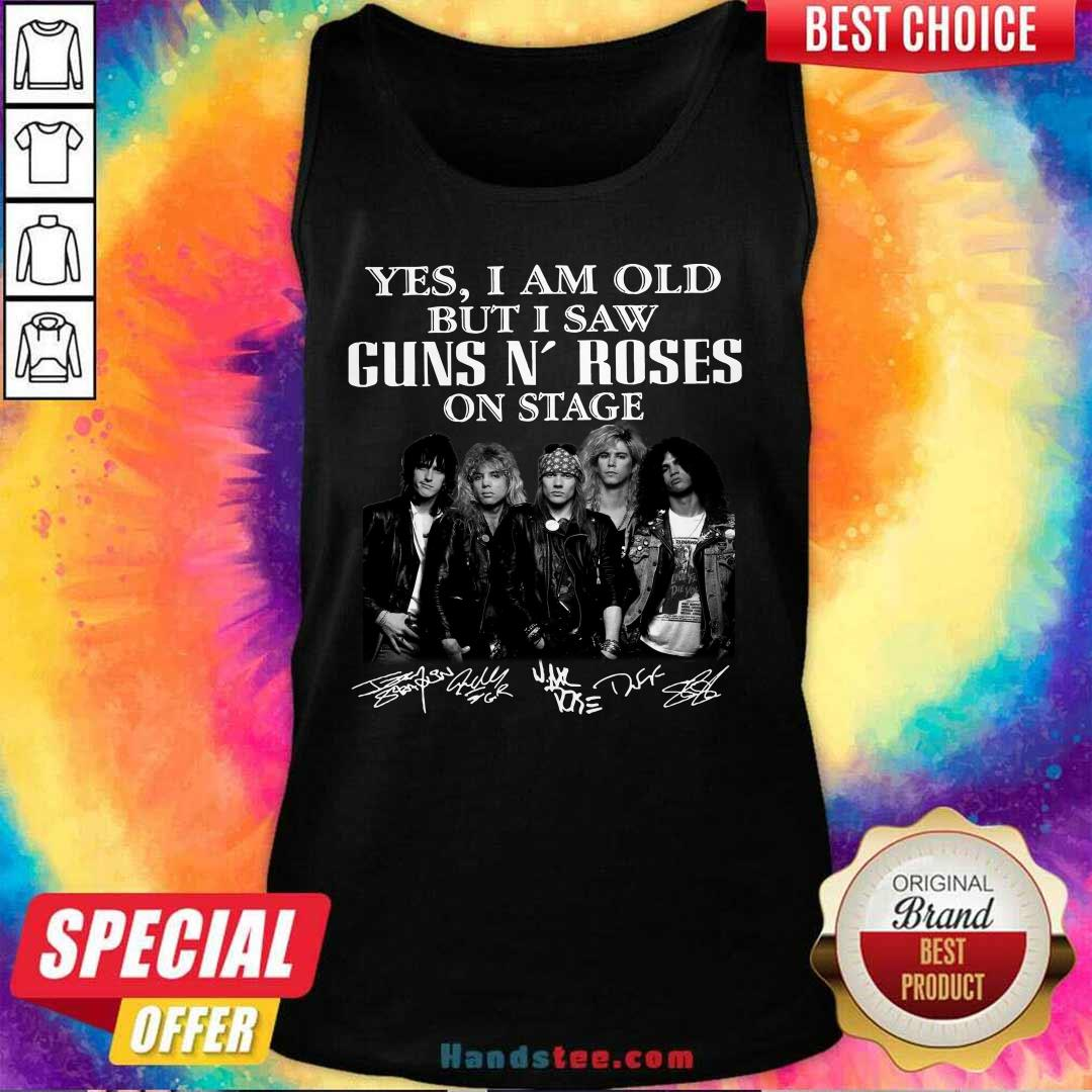 Hot Saw 8 Guns N Roses On Stage Tank Top - Design by Handstee.com