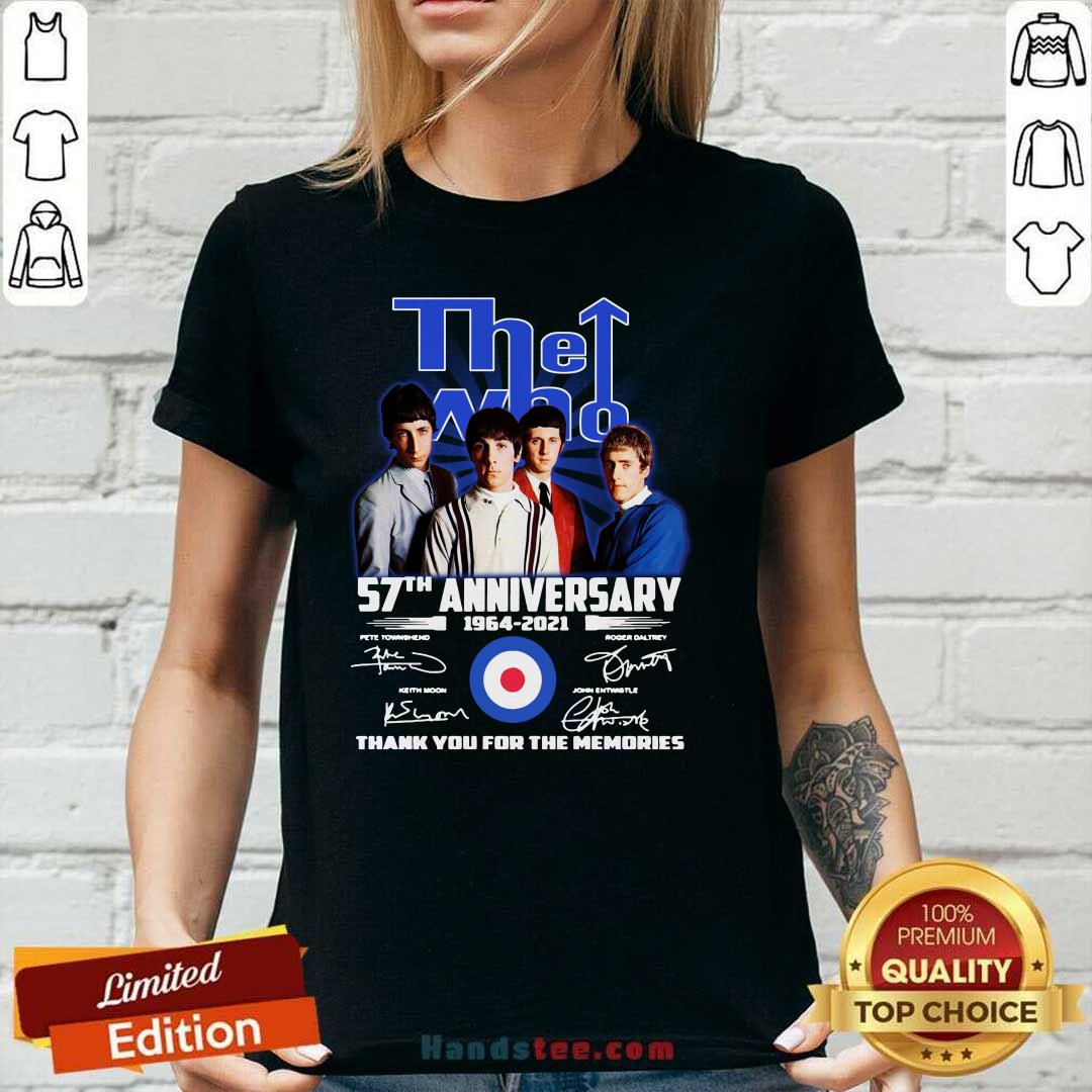 Hot The Who 57th Anniversary V-neck - Design by Handstee.com