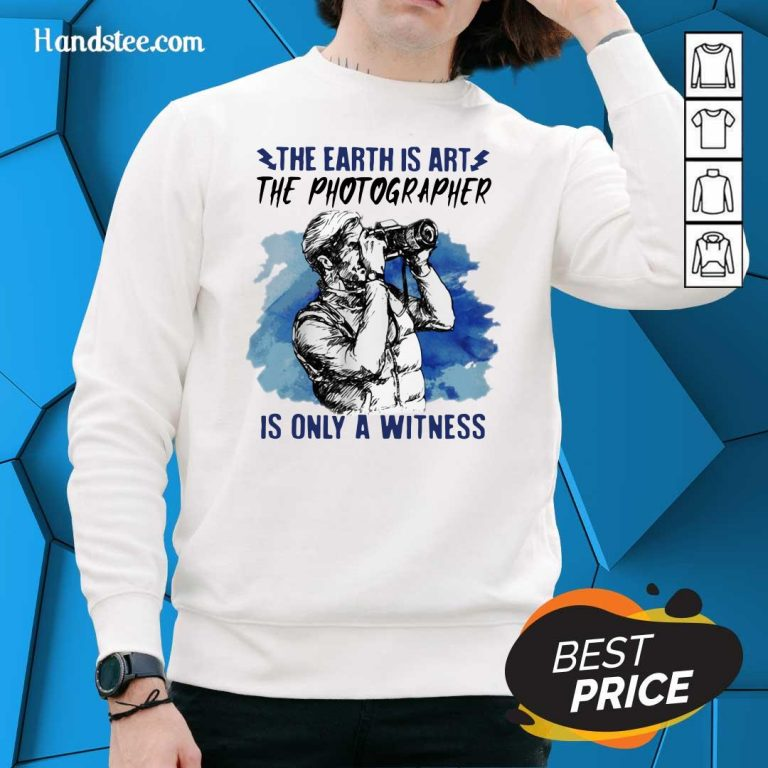 Hurt The Earth Is Art Is Only A Witness Man 3 Sweater
