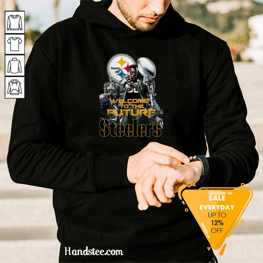 Intrigued Welcome To The Future 27 Pittsburgh Steelers Hoodie - Design by Handstee.com