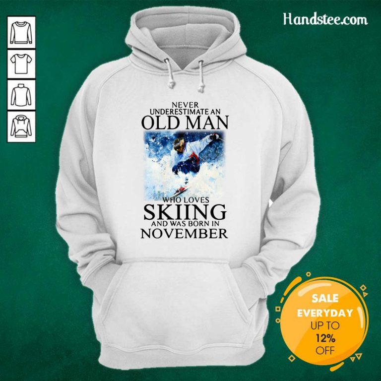 Irritated Old Man Who Loves Skiing Was Born In November 1 Hoodie
