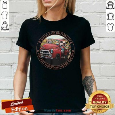 Keen Cow Buckle Up Buttercup Witch Farm 5 Ladies Tee