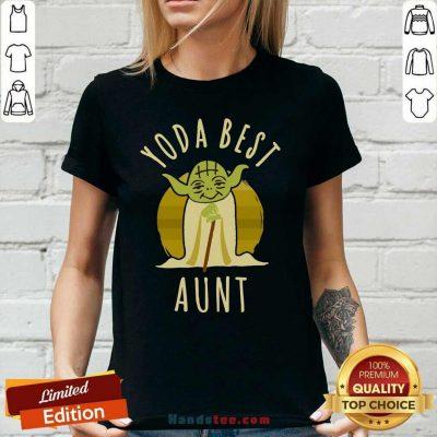 Keen Star War Yoda Best Aunt 2021 Ladies Tee - Design By Handstee.com