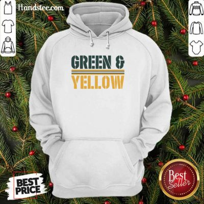 New 2 Green And Yellow Bay Hoodie - Design by Handstee.com